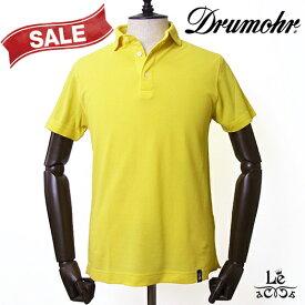 【Special price】Drumohr ドルモア アイスコットン 鹿の子 ポロシャツ DTPL202 半袖 無地 イエロー 黄色 イタリア製 春夏モデル 国内正規品 25300【送料無料】