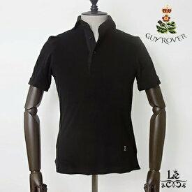 GUY ROVER ギローバー パイルポロシャツ 半袖 タオル地 無地 ブラック 黒 カッタウェイ イタリア製 国内正規品 17600【送料無料】
