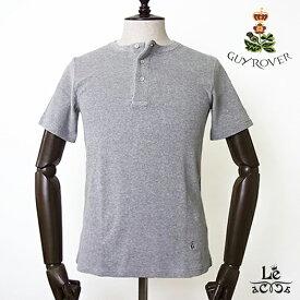 GUY ROVER ギローバー パイル ヘンリーネック Tシャツ TC441J グレー 無地 半袖 タオル地 イタリア製 メンズ 春夏モデル 国内正規品 12100