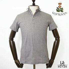 GUY ROVER ギローバー ポロシャツ カッタウェイ ワイドカラー 鹿の子 半袖 無地 ブラウン クールビズ メンズ イタリア製 国内正規品 15400