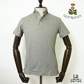 GUY ROVER ギローバー ポロシャツ カッタウェイ ワイドカラー 鹿の子 半袖 無地 ライトオリーブ ビズポロ メンズ イタリア製 国内正規品 15400