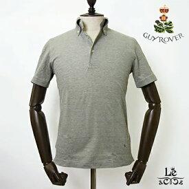 GUY ROVER ギローバー ボタンダウン ポロシャツ 鹿の子 半袖 無地 ライトオリーブ クールビズ イタリア製 国内正規品 15400