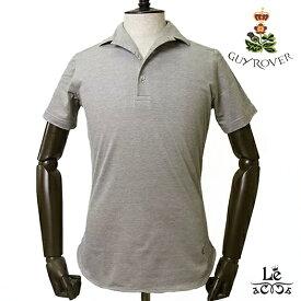 【New Arrival】ギローバー GUY ROVER イタリアンカラー ポロシャツ 半袖 鹿の子 ブラウン ワンピースカラー イタリア製 国内正規品 16500【送料無料】