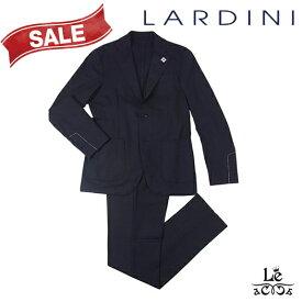 【SALE】LARDINI ラルディーニ ウール パッカブル スーツ EASY WEAR 無地 ネイビー 紺 イタリア製 秋冬モデル 国内正規品 158400【送料無料】