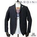 【30%OFF】【Mサイズのみ】ラルディーニ LARDINI シャツジャケット AMAJ リネン ブラック ブートニエール イタリア製…