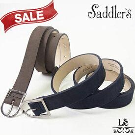 【30%OFF】Saddler's サドラーズ スエードベルト カーフ スエード G402 本革 牛革 ブラウン こげ茶 ネイビー 紺 イタリア製 9240