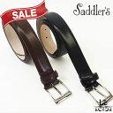 Saddler's サドラーズ ポリッシュドレザーベルト SG06 牛革 ビジネス ブラウン こげ茶 ブラック 黒 イタリア製 9072【…