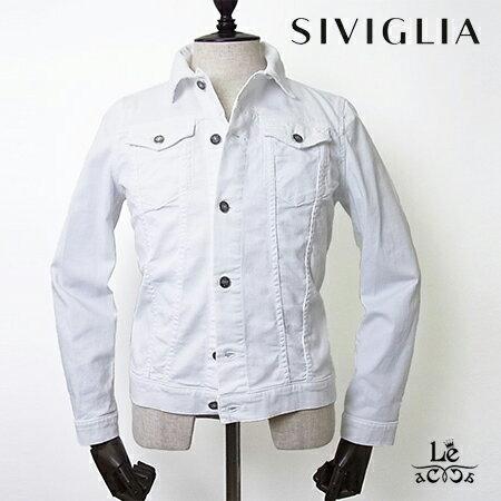 SIVIGLIA/シヴィリア/シビリア/Core/ホワイトデニムジャケット/Gジャン/メンズ/イタリア製/春夏モデル/国内正規品/33480【送料無料】