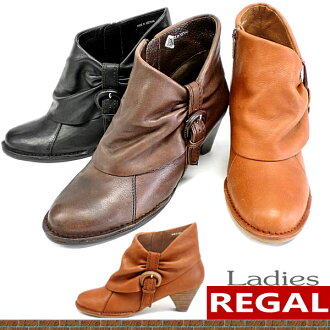 Regal boots Womens shoes REGAL leather boots Womens short ankle ladies boots-