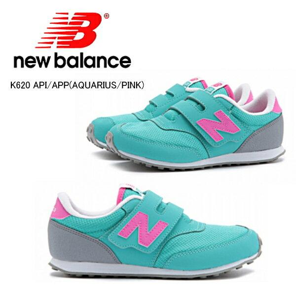 ニューバランス キッズ スニーカー 620 New Balance K620 キッズ 靴 スニーカー ニューバランス [アクエリアス/ピンク][12〜21.5cm] 正規品【PJPJ-14tntd】●