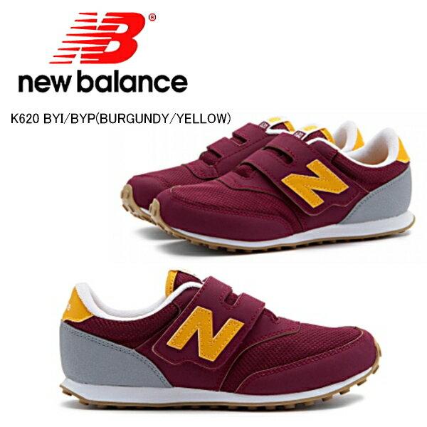 ニューバランス キッズ スニーカー 620 New Balance K620 キッズ 靴 スニーカー ニューバランス [バーガンディ/イエロー][12〜21.5cm] 正規品【PJPJ-14tntd】●