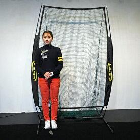 ゴルフ 練習用ネット LH-002 コンパクトサイズ 持ち運び可能 組み立て 分解らくらく 専用収納袋付き ゴルフネット 1.2×2.1mのネットサイズ リーディングヒッター ゴルフゲージ