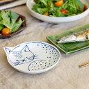 波佐見焼(はさみやき)neco皿(ねこざら)【皿 プレート 波佐見焼 食器 猫 ねこ ネコ かわいい】【北欧 ナチュラル おしゃれ カフェ 雑貨】