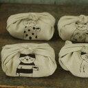 倉敷意匠計画室 リネンの刺繍お弁当包み[メール便(ネコポス)対応商品]【菅原しおん sennokoto ネコ ねこ リネン 刺…