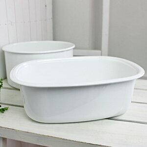 野田琺瑯/WhiteSeries楕円型洗い桶