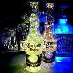 LEDイルミネーションボトルランプ(Corona)【インテリアライト】【ビンテージ】【アメリカン雑貨】【ハンドメイド】【カフェ】