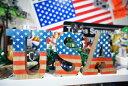 ウッド アルファベット 文字 ペイント A~M インテリア ガーデニング ハンドメイド 星条旗 アメリカ アメリカン
