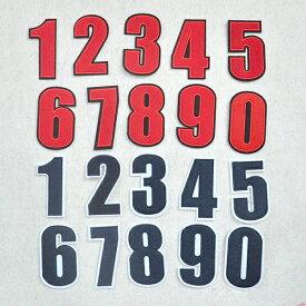 【定形郵便 100円】ビッグ ナンバー 数字 ナンバー 番号 ユニフォーム ワッペン 刺繍 アップリケ ミシン 手芸 ゼッケン