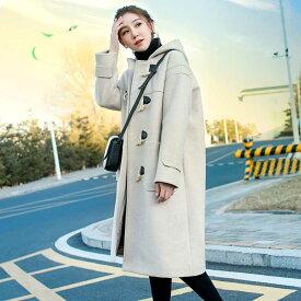コート レディース 冬 ダッフルコート ロング 大きいサイズ 3L 4L 長袖 フード付き 薄手 厚手 コート アウター ロングコート 通勤 デート 韓国