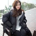 フード付き ダウンジャケット 長袖 ロング丈 ベンチコート 韓国 デイリー カジュアル アウトドア 冬