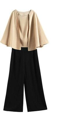 パンツドレスパンツスーツセットアップフォーマルケープワイドパンツ二次会上品結婚式お呼ばれドレス20代30代40代