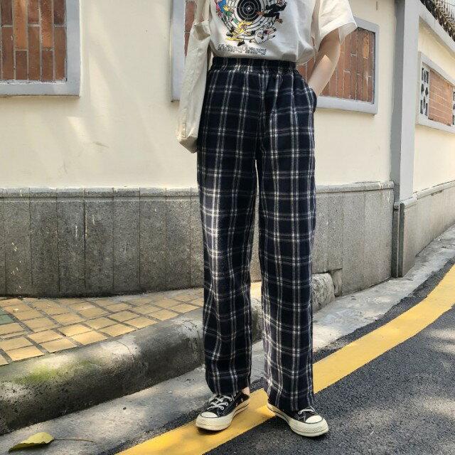 楽天市場】韓国 チェックパンツ(レディースファッション)の通販
