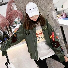 ブルゾン ミリタリー ジャケット 大きいサイズ レディース アウター 秋 冬 アウター 韓国ファッション 原宿系 ストリート