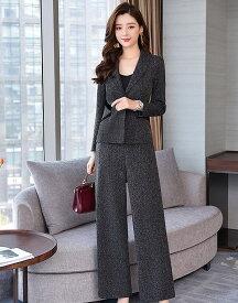 スーツ パンツスーツ レディース セットアップ スーツ パーティ セレモニー 通勤 オフィス きれいめ 大きいサイズ
