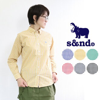 50 generations in the s&nd second かば embroidery gingham check long sleeves shirt four season in twenties in 30s in 40s