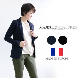 It is 50 generations for 40 generations in winter MAJESTIC FILATURES (majestic Fila Tulle) back raising tailored jacket stretch France good quality spring and summer in twenties in 30s