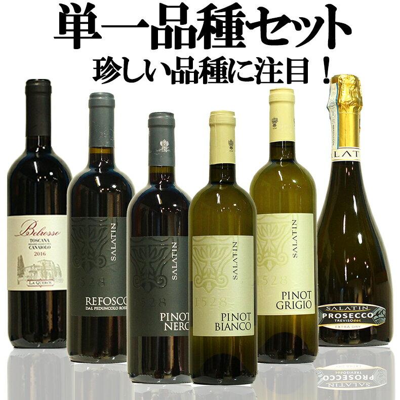 【当店限定】直輸入ワイン 品種別イタリアワイン6本セット