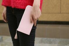 【290本限定の桜カラー】春財布イタリア革ファスナー長財布レディース財布プレゼントピンク桜さくら薄いピンク