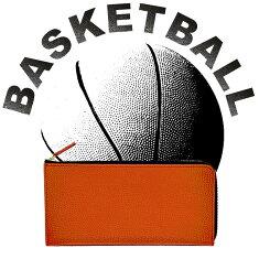 【バスケ好きの為に作りました】長財布メンズレディース財布バスケットボール本革ギフトプレゼントクリスマス