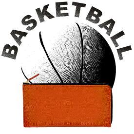 【バスケが好きな人の為だけに作りました】長財布 メンズ レディース 財布バスケットボール グッズ 本革 バスケ 雑貨 バスケグッズ 小物ギフト プレゼント クリスマス