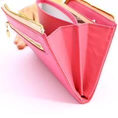 春財布イタリア革ファスナー長財布レディース財布プレゼントピンク桜さくら薄いピンク