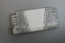 【オーダーメイド】 カイマン 長財布 本革 ヒマラヤ メンズ レディース ラウンドファスナー クロコダイル 長財布 一枚革 最上級品
