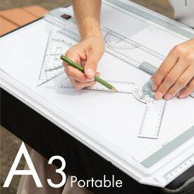 製図板 A3 水平定規 スライド式 固定ロック L型アタッチメント 製図台 製図版 製図用 専用器具 図面 作図 あす楽対応 【送料無料】
