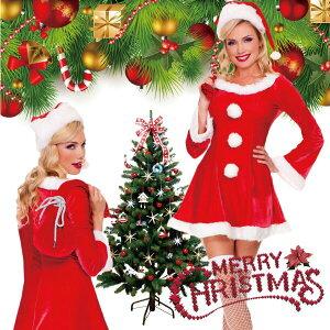 コスプレ サンタ 衣装 レディース セクシー かわいい 長袖 帽子付き ミニ コスチューム サンタクロース 可愛い 仮装 キャラクター ハロウイン 忘年会 女性用 フリーサイズ