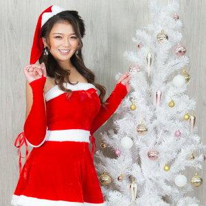 コスプレ 衣装 サンタ レディース クリスマス コスチューム サンタコス サンタクロース スカート セクシー 可愛い かわいい サンタ帽子 女の子 ミニスカート ミニスカ ミニ オフショルダー