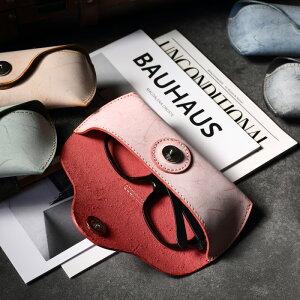 メガネケース おしゃれ 本革 ブライドルレザー 眼鏡ケース スリム ソフト コンパクト メンズ レディース 男性 女性 | シンプル サングラスケース 本皮 ギフト プレゼント 父の日 母の日 レッ