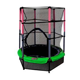 トランポリン 大型 子供用 セーフティーネット付きで安心安全 140cm 緑 ご自宅のお庭で遊園地気分 軽量 組み立てはドライバー1本 トランポリン