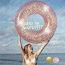 フロート うきわ 浮き輪 浮輪 大人 120cm インスタ映え 大きい 可愛い 大人用 キラキラ おしゃれ シンプル ゴールド ピンク プール ビ…