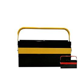 工具箱 ツールボックス スチール 3段 両開き 大型 42cm 2カラーイエロー ブラック レッド ブラック 収納 整理 工具入れ 道具箱 車載工具 三段 収納ボックス 黒 黄 赤 @a871