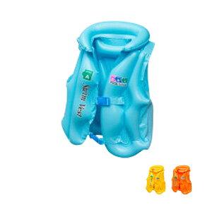 ライフジャケット 子供用 エアー 80cn〜140以上 S M L ブルー イエロー オレンジ スイムベスト フローティングベスト ジュニア キッズ 幼児 こども スイミング プール 海水浴 水遊び 青 橙 黄色