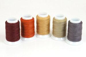 ビニモ5番(ダブル ロウ付糸)全25色 レザークラフト工具 クラフト 手芸 ハンドメイド 革 糸 手縫い