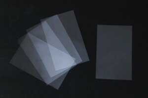 透明セル(穴なし) (5枚) レザークラフト クラフト 手芸 ハンドメイド 副資材 パスケース カードケース セル板