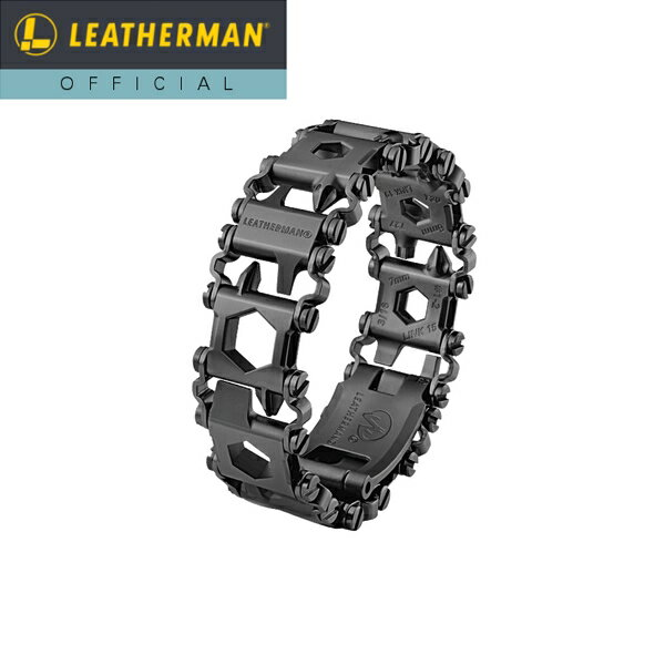 【公式】[日本正規品 25年保証] LEATHERMAN(レザーマン) TREAD LT(トレッドLT) Black マルチツール 時計 ブレスレット 工具 アウトドア ミリタリー