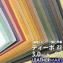 牛革 ティーポ (全22色) 3.0mm厚9DS(30x30cm) |日本製 レザー レザークラフト 赤 革 革材料 本革 タンニン鞣し タ…