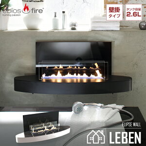 バイオエタノール暖炉 ebios fire エビオスファイヤー ELIPSE WALL エリプスウォール ステンカラー シルバー ストーブ 暖房