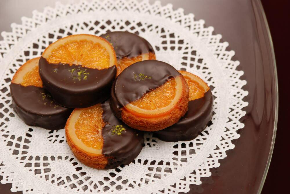 銀座スイーツリキュール香るバレンシアオレンジとチョコレートの組合せ『ガレットオランジェ』8個入り【内祝い】